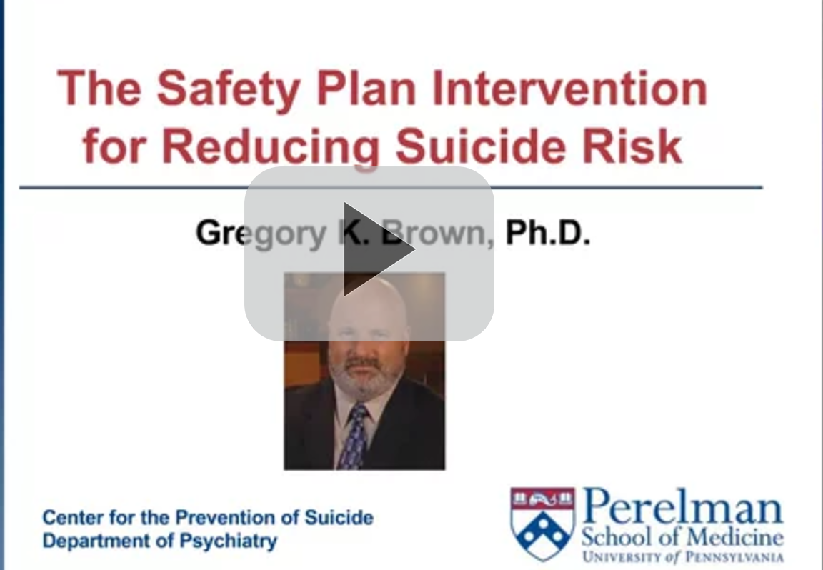 Greg Brown Suicide Prevention Webinar Title Screen