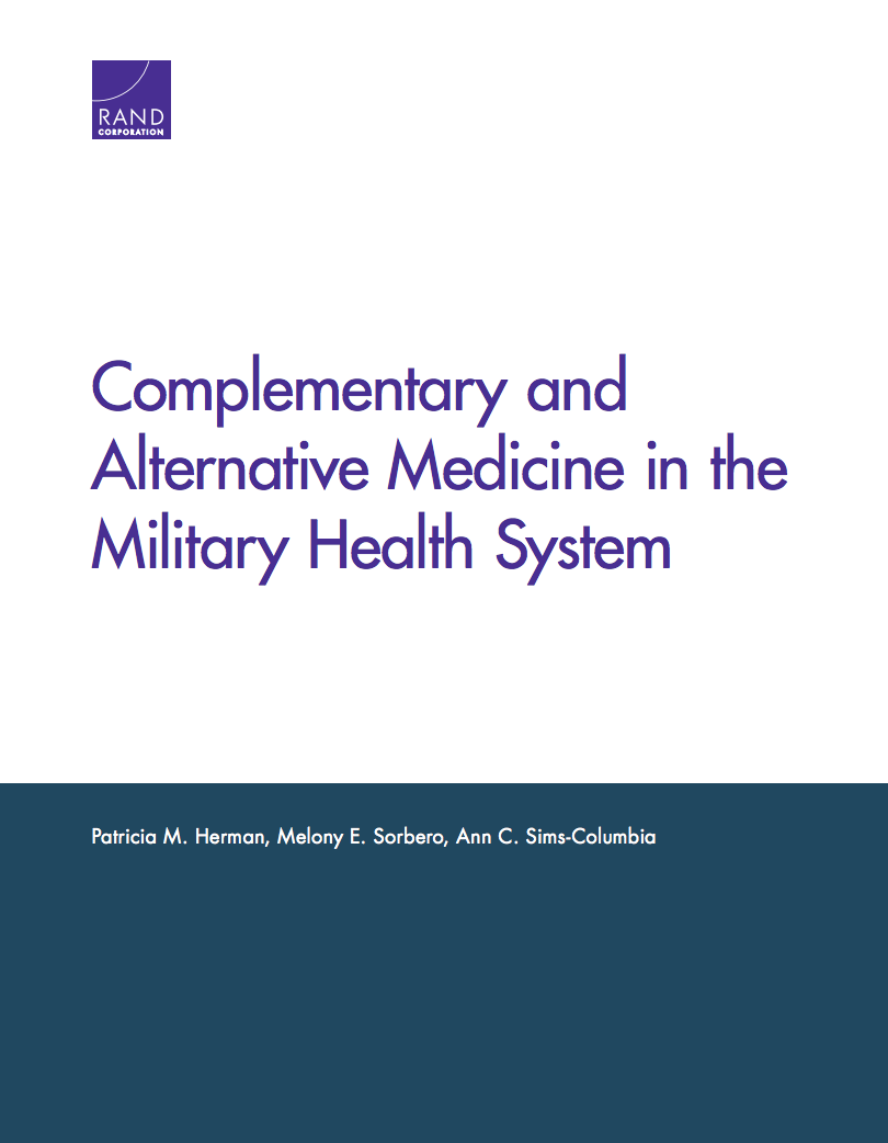 Complementary and Alternative Medicine in the Military Health System report cover