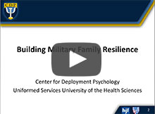 CDP Presents: Building Military Family Resilience -