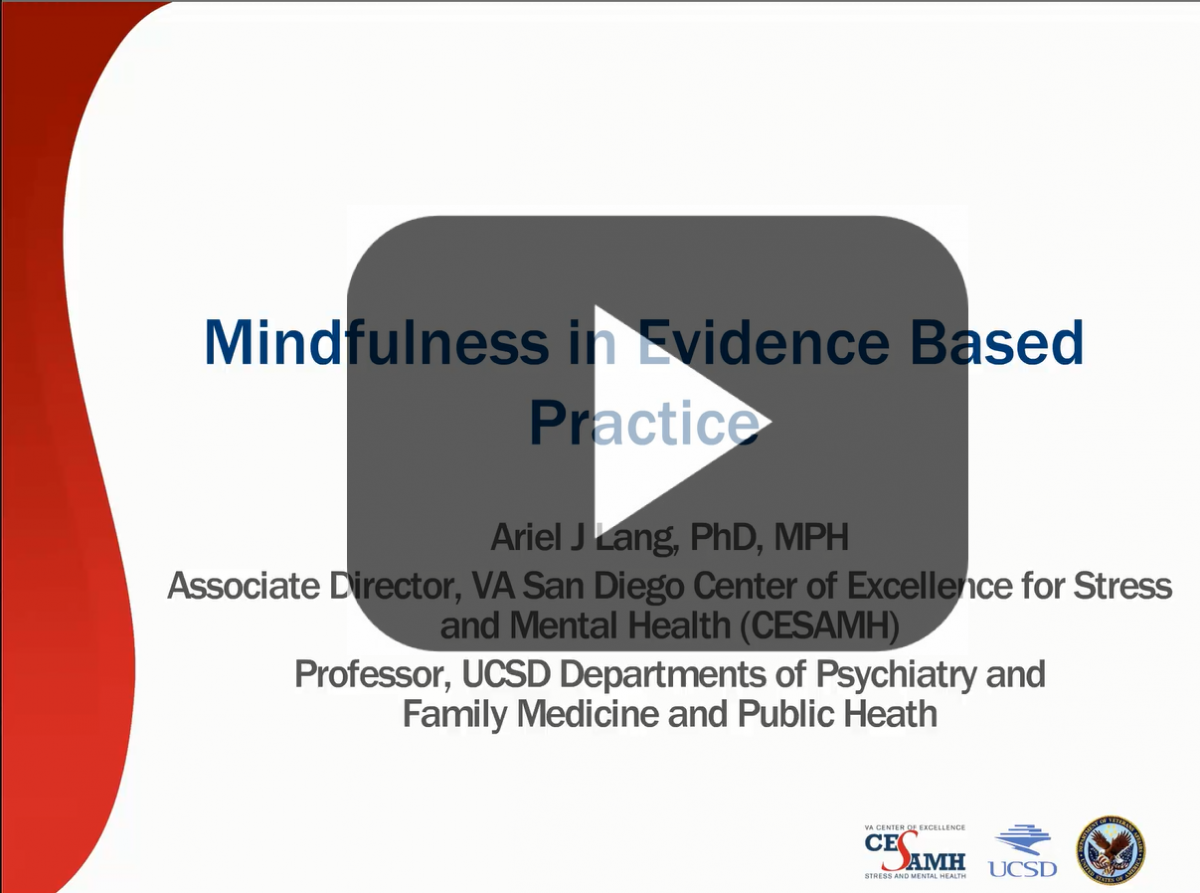 Mindfulness in Evidence-based Practice Webinar Title Screen