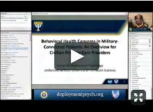 Behavioral Health Concerns in Military Connected Patients