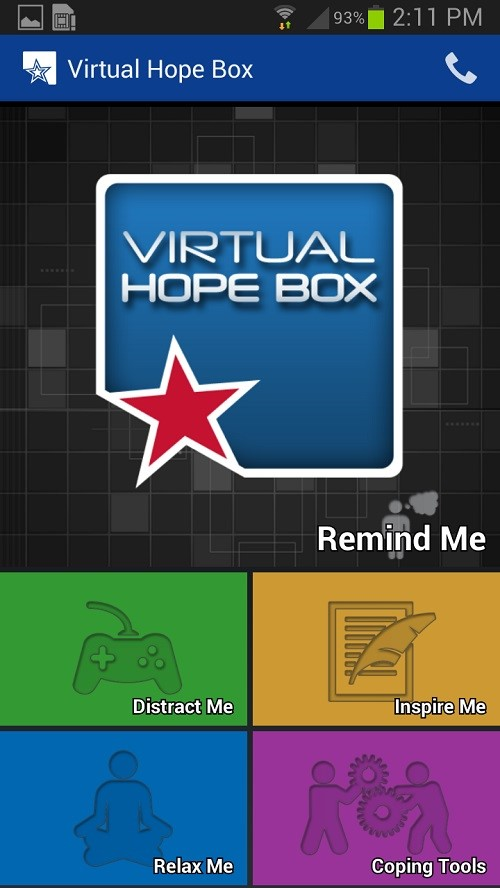 Virtual Hope Box App Screen Shot