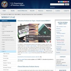 Clinical Education Products Web Page image